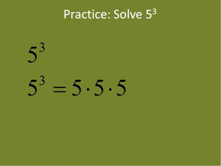 Exponents the Basics (Simplifying Math)