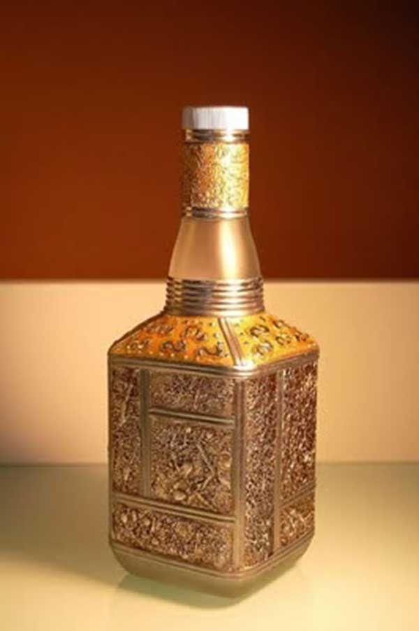 Las 25 mejores ideas sobre botellas de licor decoradas en - Ideas decorativas navidenas ...