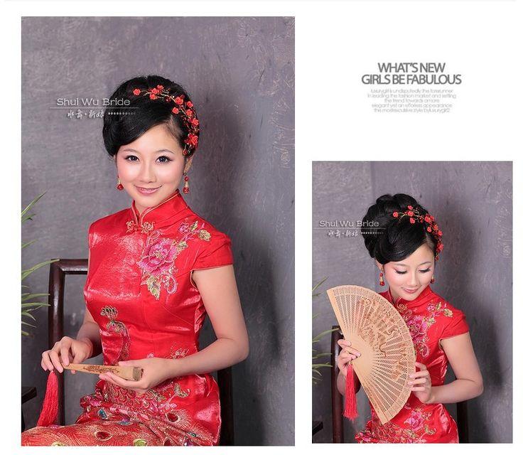 Versandkostenfrei! Chinesischen vintage rote kristall blume braut haarschmuck hochzeit haarschmuck th227 in Kopfschmuckwaren von Schmuck auf Aliexpress.com