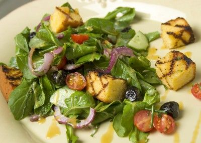 Cornbread Salad with Arugula and Fresh Herbs: This casual salad ...