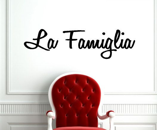La Famiglia Italian Kitchen Wall Decal on Etsy, $14.99
