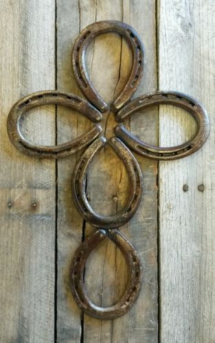 Horseshoe Cross Rustic Western Decor