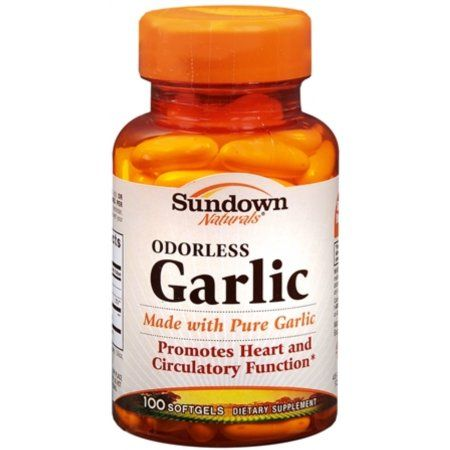 Sundown Naturals Odorless Garlic Dietary Supplement Softgels, 100 count, Multicolor