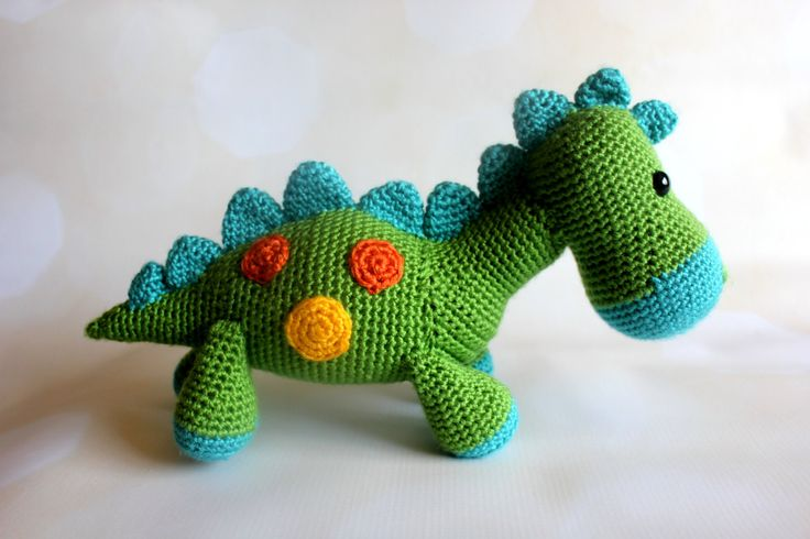 Dinosaur Stuffed Animal Toy - Crochet Dinosaur Amigurumi - Stuffed Dinosaur - Bronti - Brontosaurus - Baby Shower Gift - Baby Nursery Decor