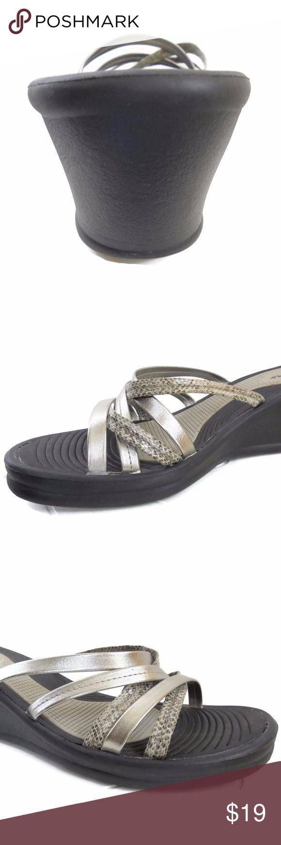 Skechers Wedge Heel Sandal Comfortable Wedge Sandals By Skechers Size 10 Skechers Shoes Sandals
