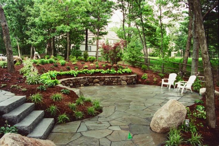 pebble patio | From natural stone pavers to rugged stone outcrops. From carved ...