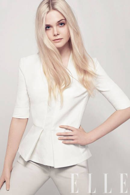 """""""I make movies the same way other kids play tennis or go to piano lessons"""" - Elle Fanning, Women in Hollywood, 2012"""