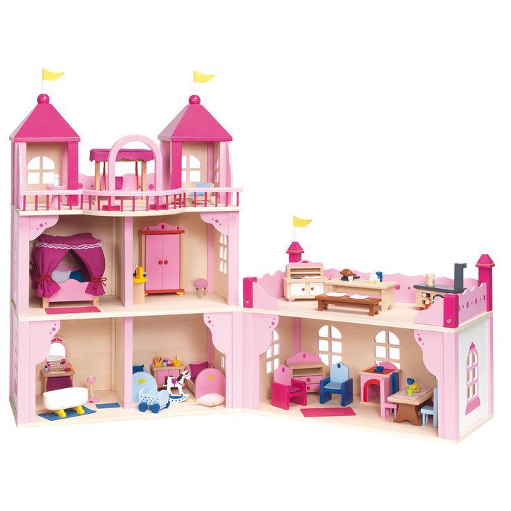 17 beste idee n over roze peuter kamers op pinterest for Poppenhuis voor peuters