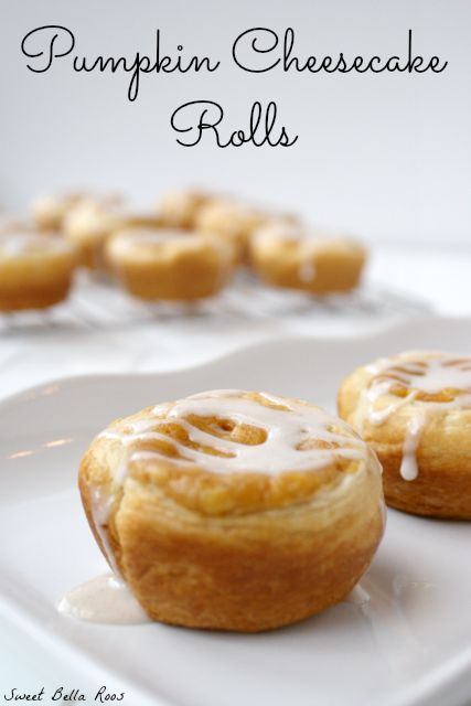 pumpkin cheesecake rolls #fall #yummyrecipe