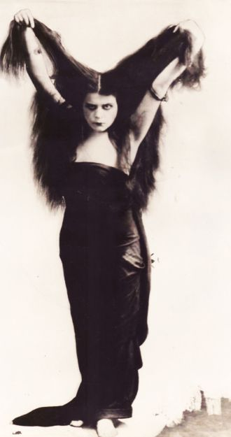 "Theda Bara - Photo taken for the 1915  film, ""Sin""."