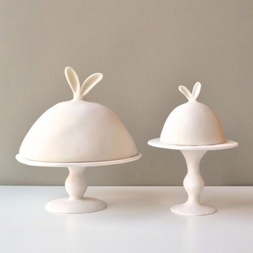 rabbit-eared pedestals and domes by Tina Frey -!!