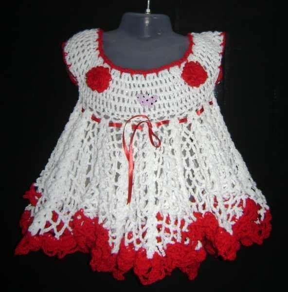 vestidos de niñita tejidos a palillos - Buscar con Google