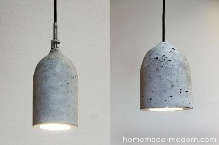 If you've got some concrete mix and a few empty plastic bottles lying around, why not turn them into these gorgeous modern pendant lamps? Using different types of bottles, you can make them any style or shape you want!