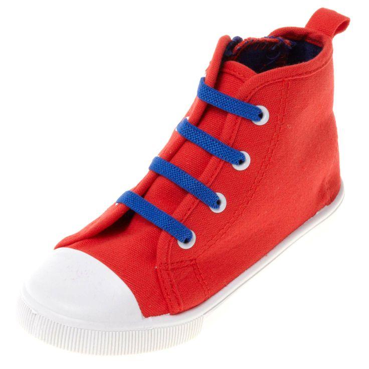 Zapatillas deportivas altas con cordones Infantil niño - Kiabi - 9,99€