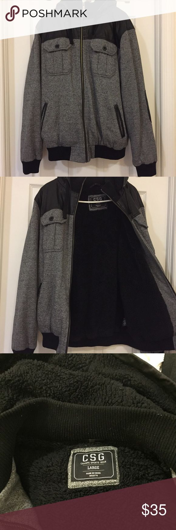 Champ sports gear jacket with hood. Large Super warm. Fit true to size. Still in good condition. Please feel free to make an offer. Champ Sports Gear Jackets & Coats