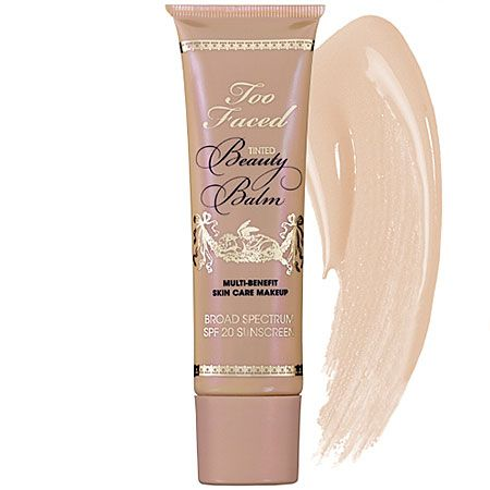 Too Faced Beauty Balm: This stuff is really great for those that don't need a ton of coverage and don't want to feel like they have a face full of makeup.  I pair this with a good concealer for those pesky trouble areas and my skin looks flawless.  Sold at Sephora and Ulta.