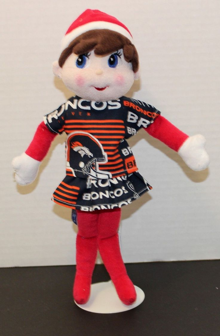 Handmade Girl Elf Doll Clothes NFL Broncos Football Clothes Only   eBay