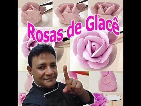 Rosa de Glacê Real com durabilidade de 6 meses - confeitaria Online - YouTube