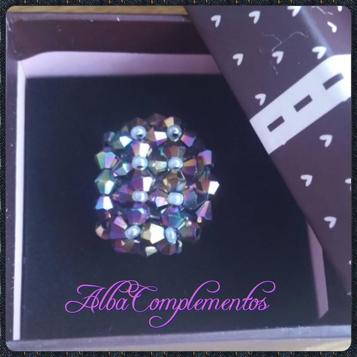 anillo de cristales swarovski colorful