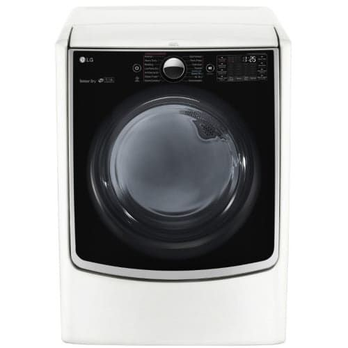 LG DLGX5001 27 Inch Wide 7.4 Cu. Ft. Energy Star Rated Gas Dryer with SmartThinQ, Silver stainless steel