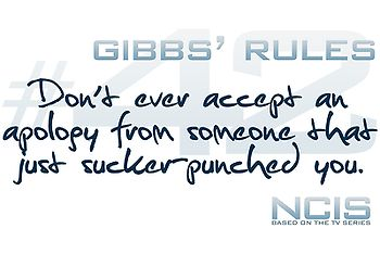 Gibbs' Rules #42 - Just Sucker-Punched You