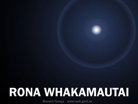 Wallpaper to download for Māori language week.   Rona whakamautai.  Rona, controller of the tides.