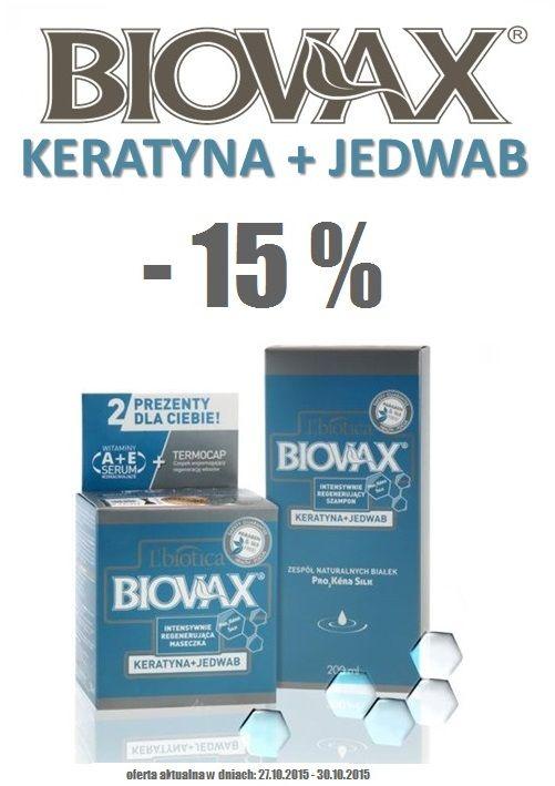 Biovax - Keratyna i Jedwab - cała seria z 15 % rabatem w sklepie biutiq.pl Oferta aktualna do piatku 30.11. ZAPRASZAMY!