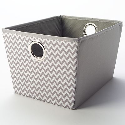 Bought A Couple Different Sizes Of These Gray Chevron Storage Baskets From  Kohlu0027s For Leahu0027s Dorm