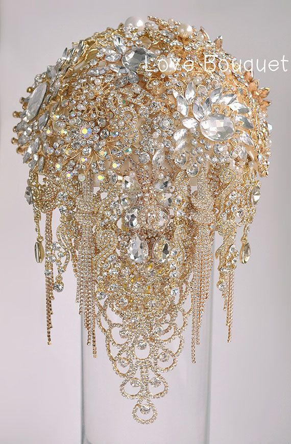 Brooch Bouquet Bridal Bouquet Crystal Wedding by LoveBouquet