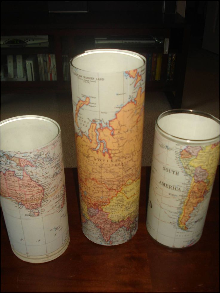 I love these Map themed candles, clustered together on top of a suitcase or grouped round a globe itself.