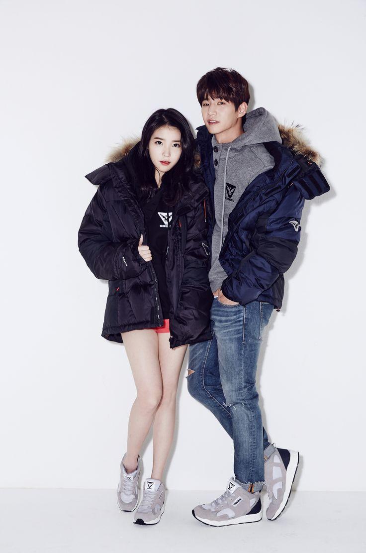 스베누 모델 아이유&송재림 커플화보♡ 스베누 패딩/후드/B라인 쓰론 올그레이