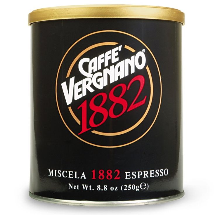 Caffè Vergnano 1882 - Espresso Ground Coffee in Tin. 250g - Pasticcini