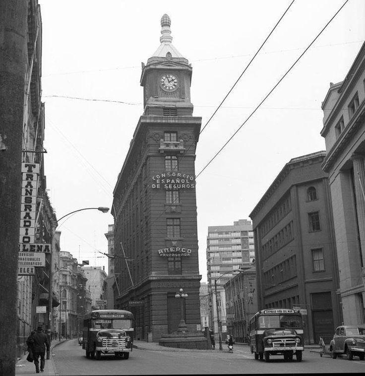 Valparaíso - El Reloj Turri, año 1965