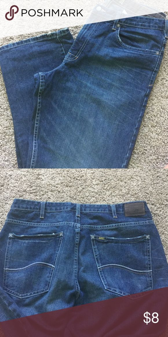 Lee Dungarees Loose Straight Leg Jeans 34x32 like new condition Lee Jeans Straight