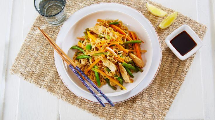 Oppskrift på Kylling Chow Mein