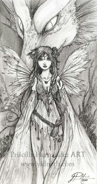 image detail for gothic pencil drawings gothic fairies fairies coloring pages ajilbab - Coloring Pages Dragons Fairies