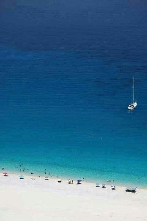Myrtos beach, Kefalonia island, Ionian Sea, Greece