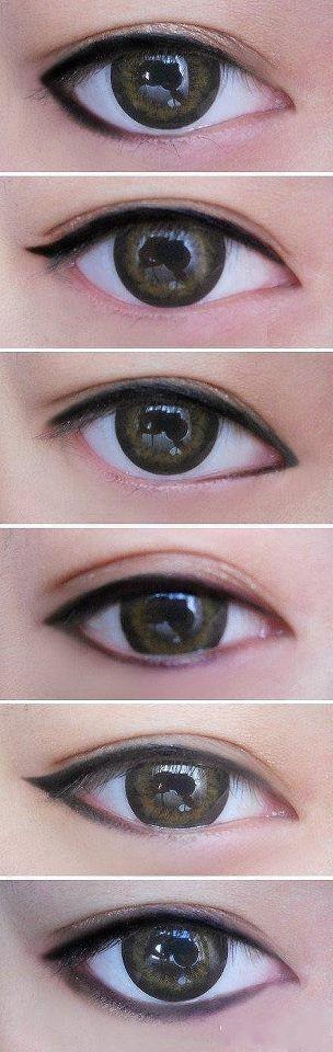 #Técnicas de #maquillaje para delinear un ojo
