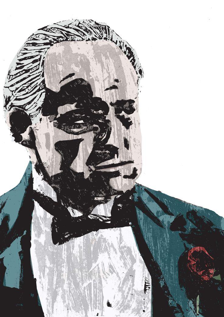 #illustration #print #thegodfather #movieart #film #marlonbrando