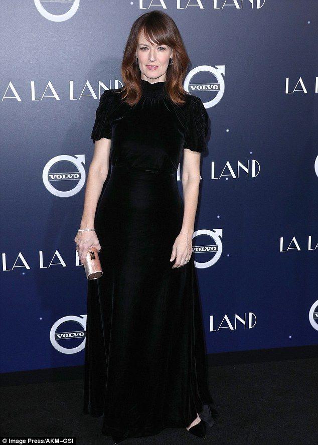 Darkside: Rosemarie DeWitt stars in the film as she wore a black velvet gown...