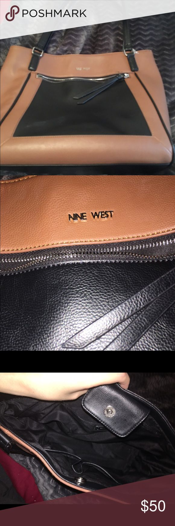 Nine West purse Black and brown Nine West purse. Perfect condition! Nine West Bags Shoulder Bags
