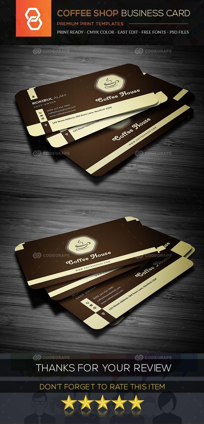 Coffee Shop Business Card Coffee Shop Business Card Coffee Shop Business Printing Business Cards
