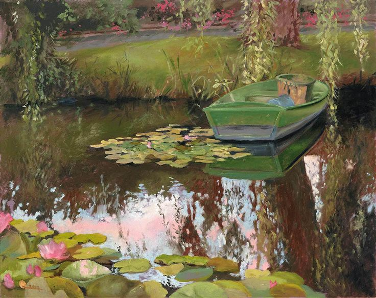 1000 Images About Paintings Ponds On Pinterest Gardens