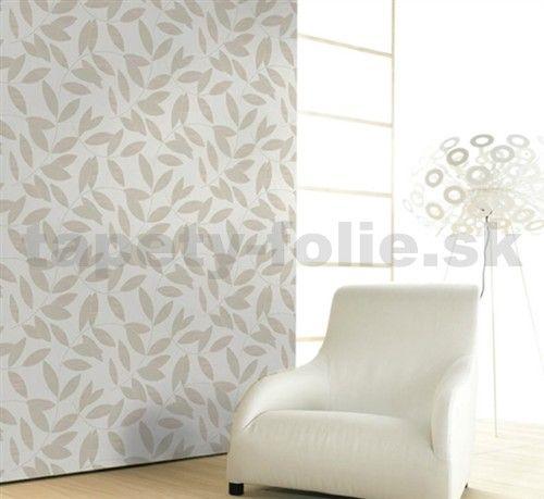 Vliesové tapety na stenu Di Moda listy svetlo-hnedé | tapety-folie.sk
