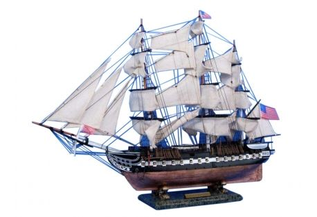 USS Constitution Old Ironsides Wooden Scaled Model Replica