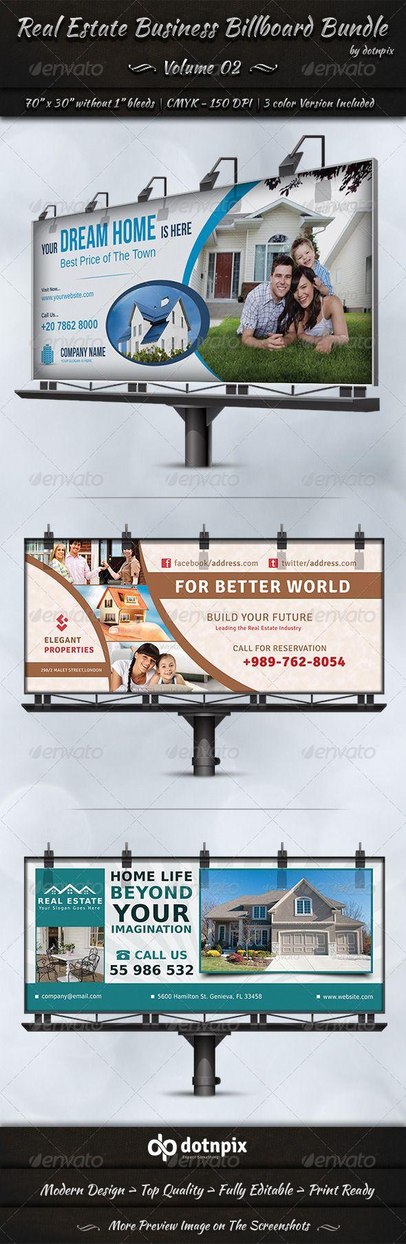Real Estate Business Billboard Bundle Template #design #ads Download: http://graphicriver.net/item/real-estate-business-billboard-bundle-volume-2/7242083?ref=ksioks