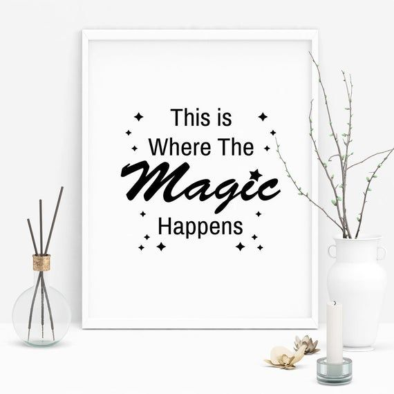 Office Wall Decor This Is Where The Magic Happens Digital Etsy Office Wall Decor Work Space Decor Wall Decor