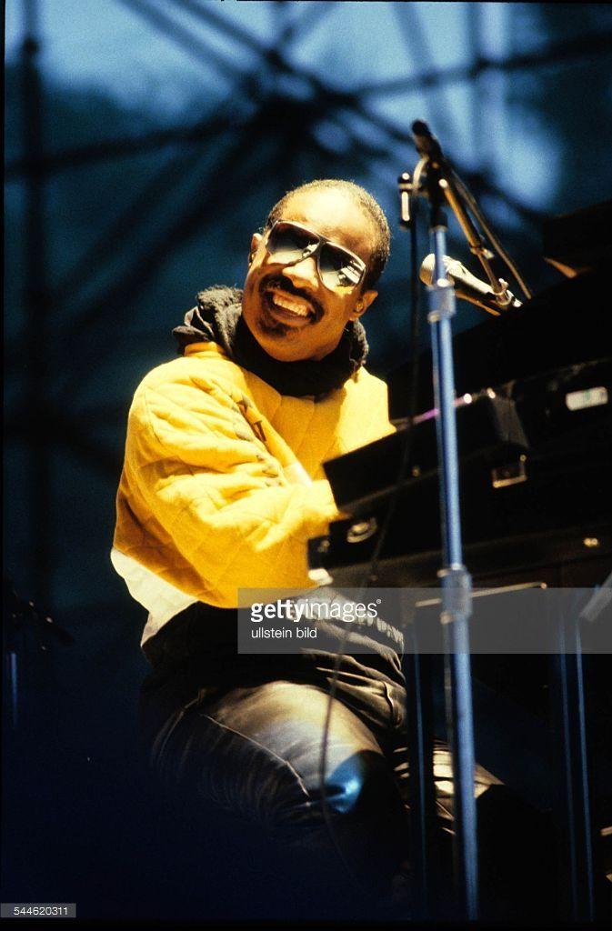 Wonder, Stevie *-Musiker, Saenger, Popmusik, USA - Auftritt- 1984
