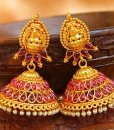 Buy Gorgeous high gold  plated geru polish antique jumkas jhumka online