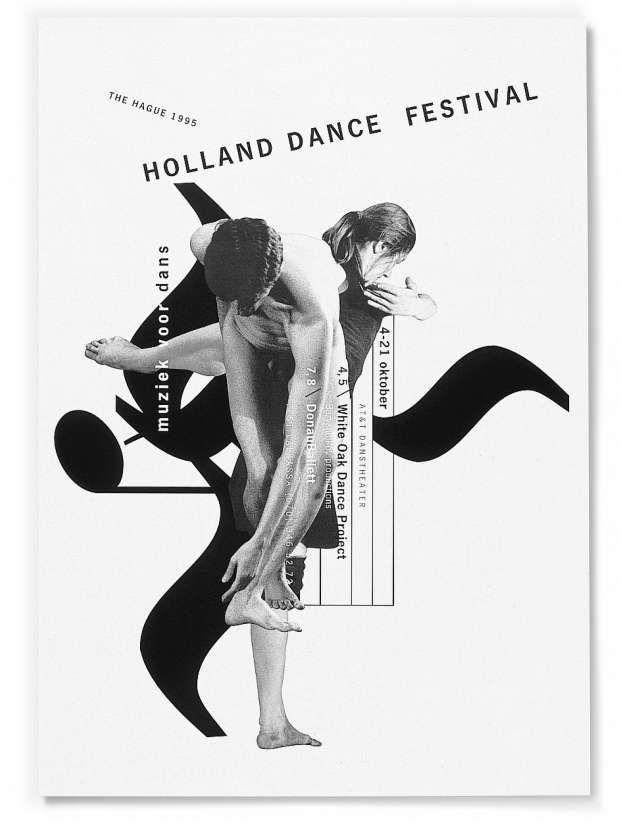 Gert Dumbar 1995 Holland Dance Festival Poster
